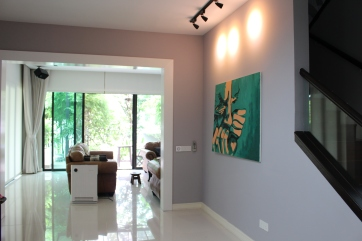 Commissioned painting in residential house