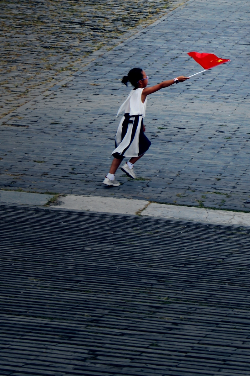 Photo of Girl with Flag